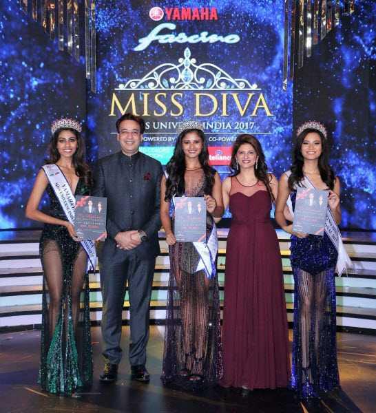Dr. Kathurias with Miss Divas 2017