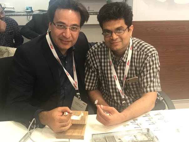 Dr Puneet Kathuria with Dr Sankalp Mittal