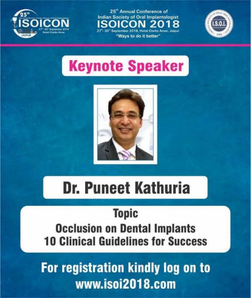 Dr. Puneet Kathuria - ISOICON