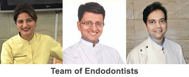 Team of Endodontists at Dr. Kathuria's Dental Clinic