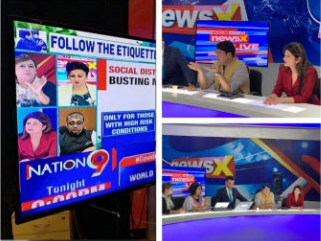 Dr.Sween Kathuria on NewsX channel in a panel discussion.
